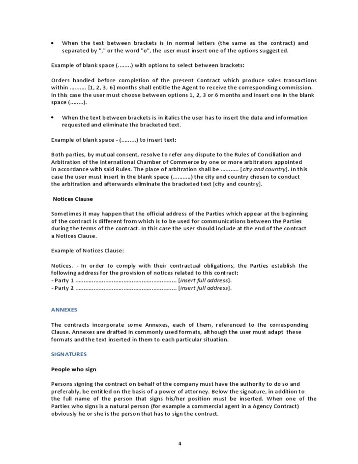 Logistic Services Contract Template