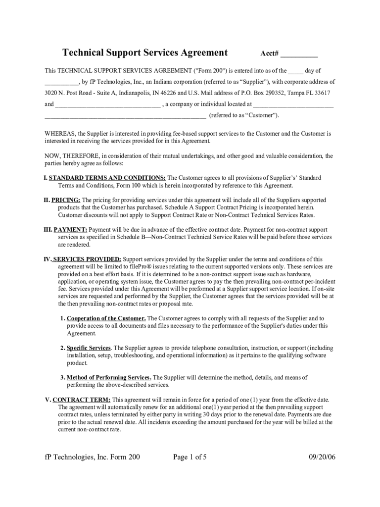 Service Contract Template 12 Free Templates in PDF Word Excel – Service Contract Template Free
