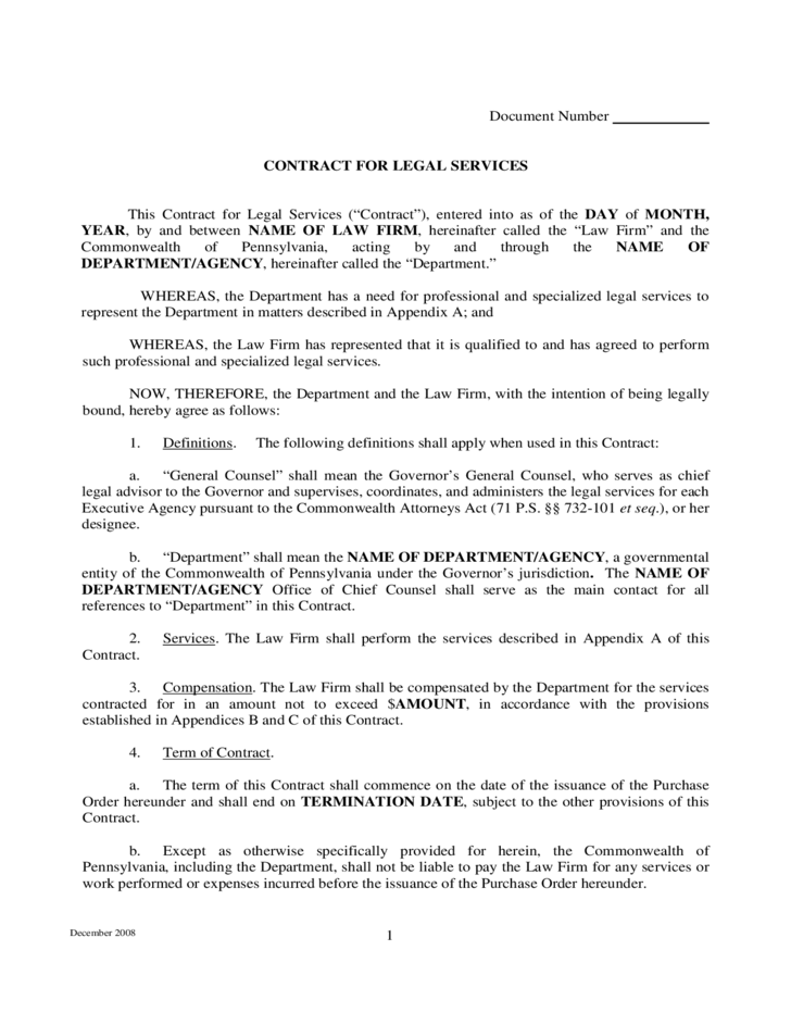 legal agreement template .