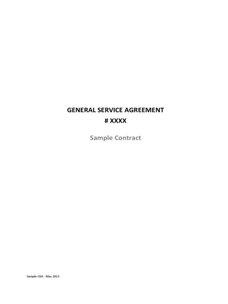 General Service Agreement Sample