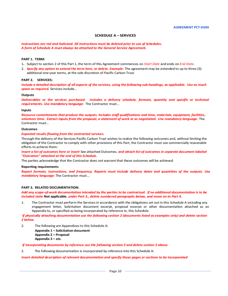 service agreement This standard services agreement is a sample provided for produced by the service provider pursuant to this agreement 22 warranty the service provider.