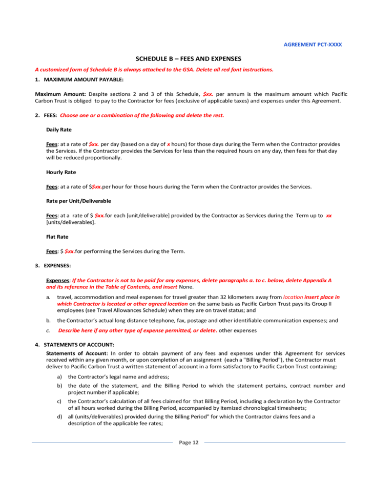 general service contract template