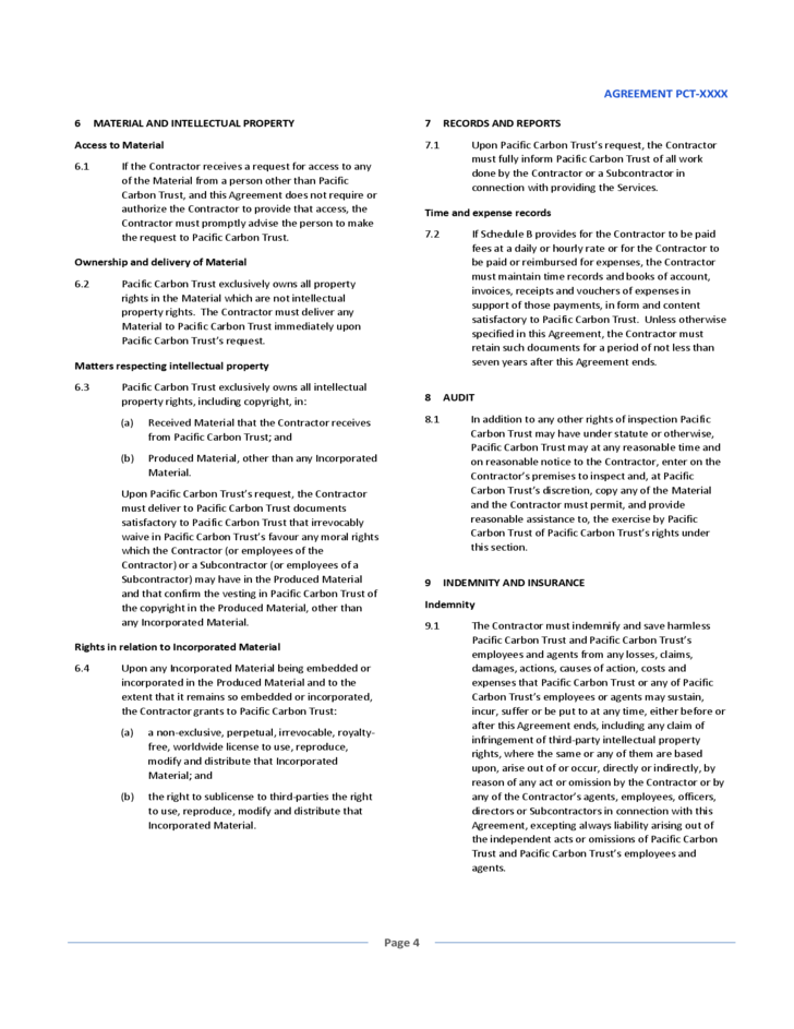 General Service Agreement Sample Free Download