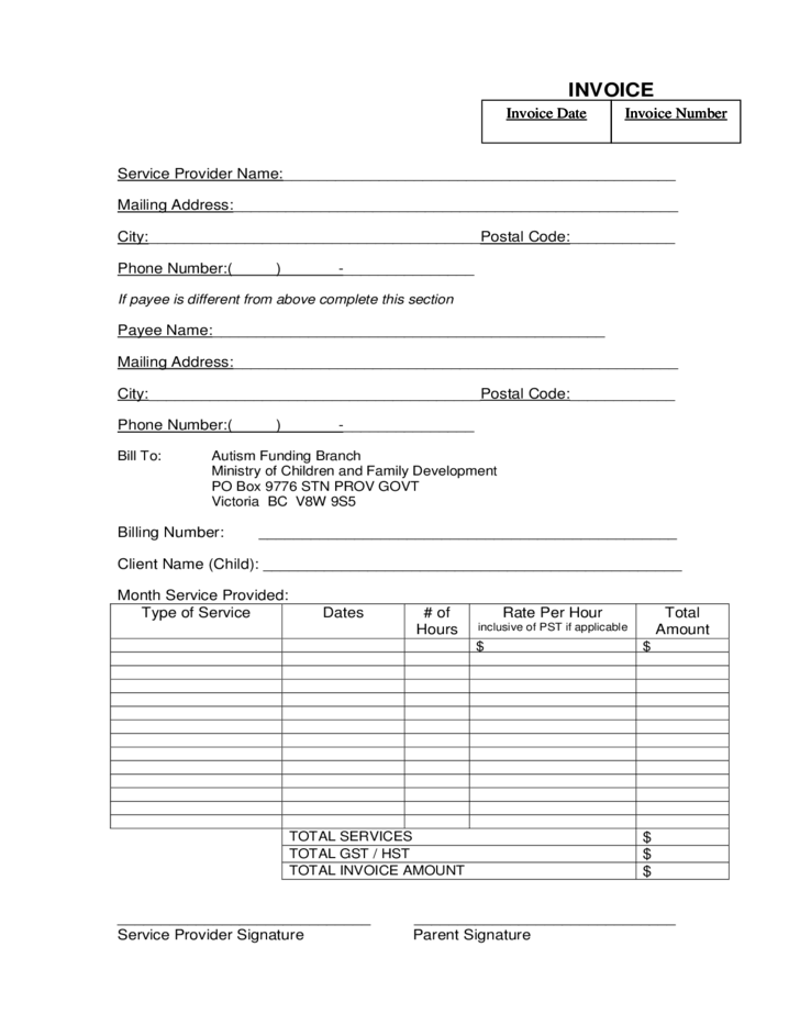 word document invoice template blank invoice template word doc house