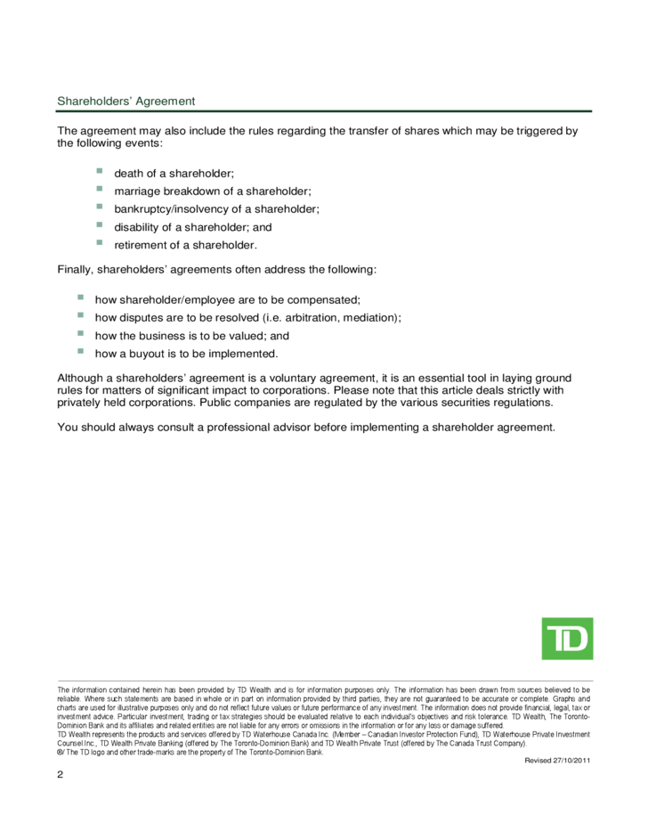 shareholders 39 agreement guide free download