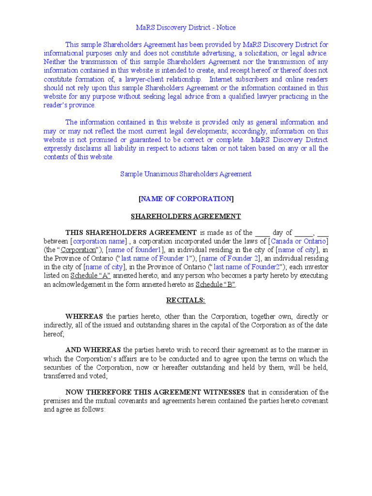 Agreement templates 318 free templates in pdf word for Shareholder buyout agreement template