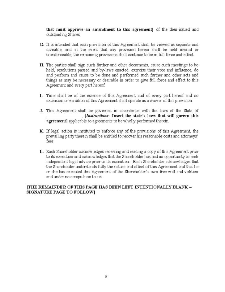 Shareholders Agreement Template Image collections - Agreement Letter ...