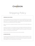 shipping policy - Domaine Chandon California Free Download