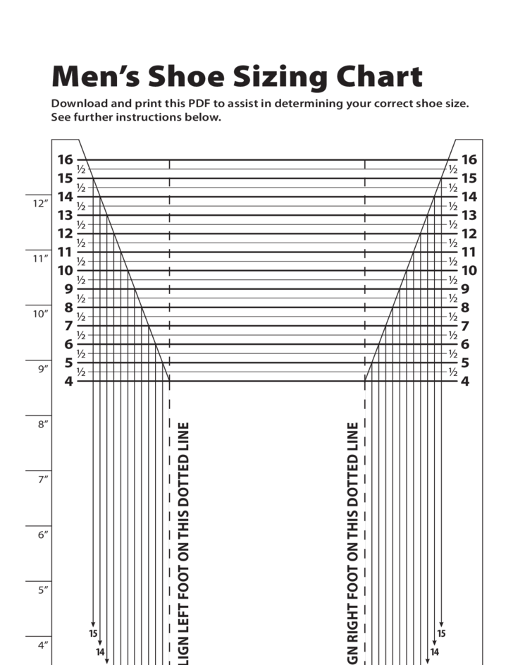 Lively image in printable foot size chart