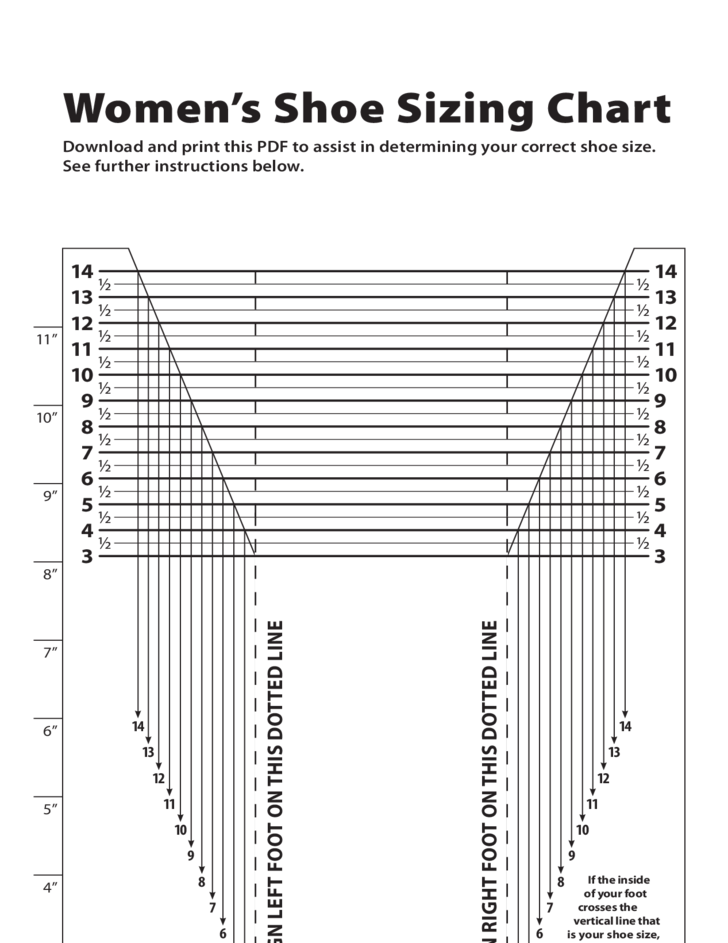 Women S Shoe Sizing Conversion Chart