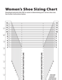 Women's Shoe Sizing Chart