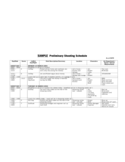 SAMPLE Preliminary Shooting Schedule Free Download