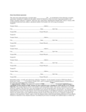 Short Term Rental Contract Form - Florida Free Download