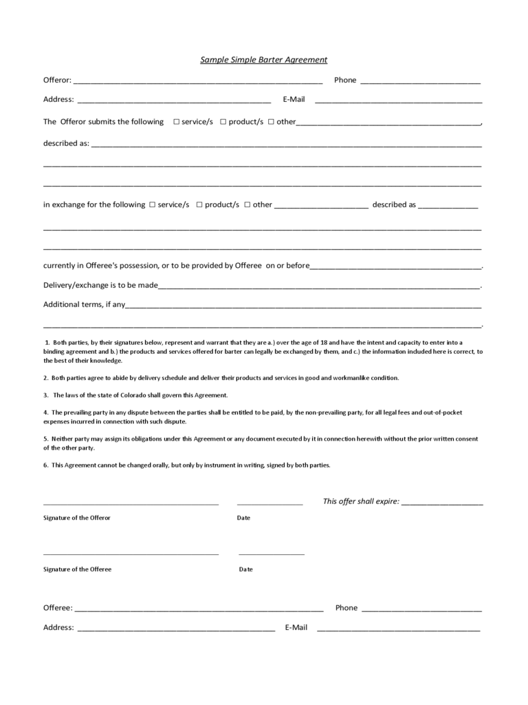 Simple Contract Template - 6 Free Templates in PDF, Word, Excel ...
