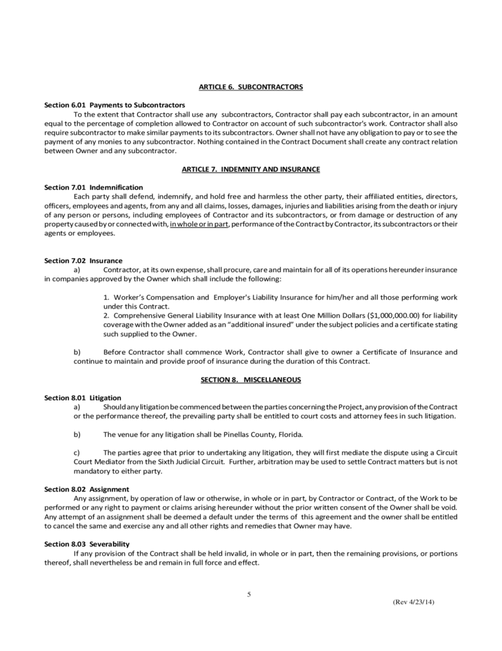 Simple Construction Contract Simple Construction ContractSimple – Free Construction Contracts
