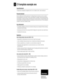 Simple CV Sample Free Download