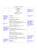 Simple CV Example on One Page Free Download