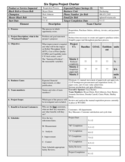 Six Sigma Project Charter Sample Template Free Download