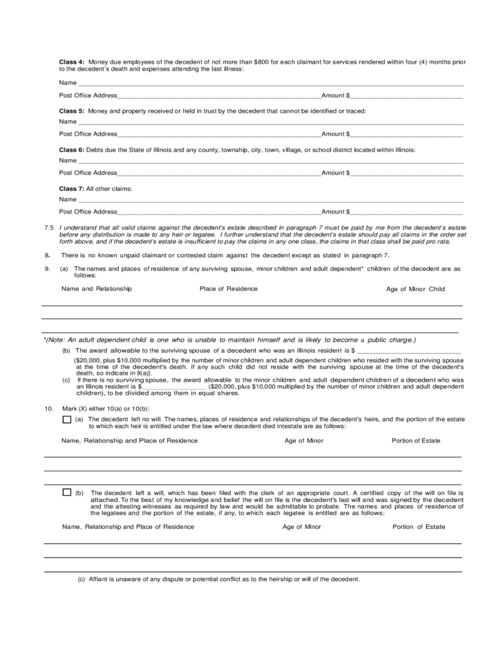 Small estate affidavit form illinois peopledavidjoel small estate affidavit form illinois altavistaventures Images