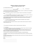 Affidavit for Collection of Personal Property - California Free Download