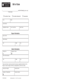 Snowmobile Bill of Sale Form - Michigan Free Download
