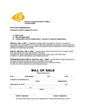 Bill of Sale Form for Snowmobile - Iowa Free Download