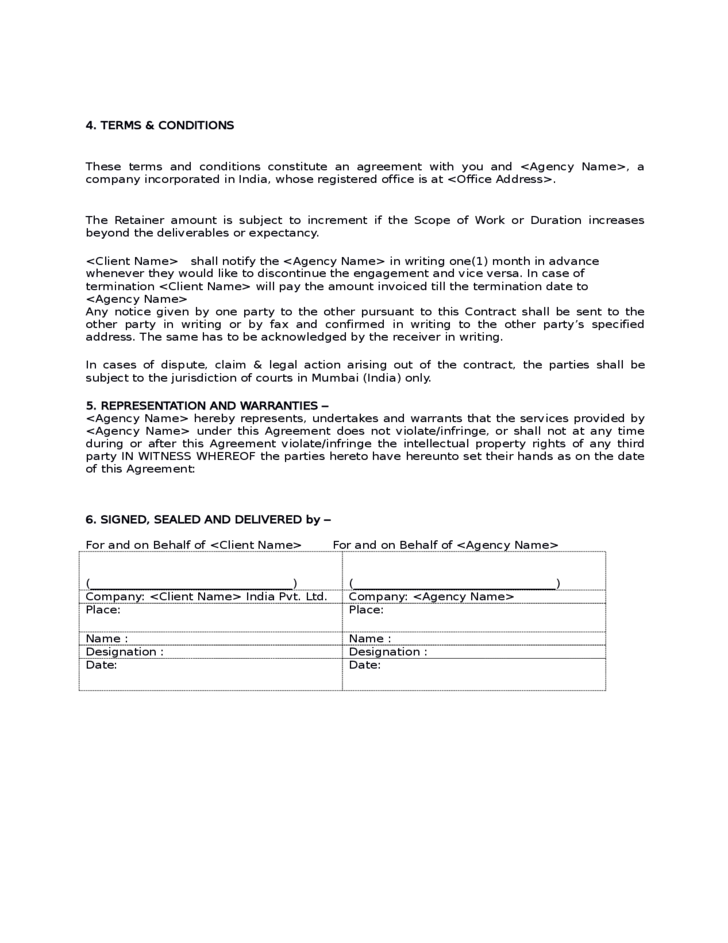 Sample Social Media Marketing Agreement Free Download – Marketing Agreement Template