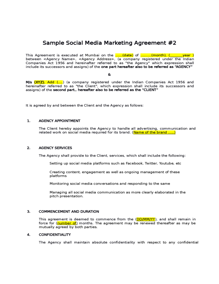 Advertising Contract Templates to Download