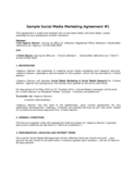 Sample Social Media Marketing Agreement Free Download