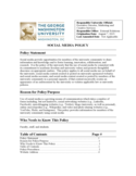 Social Media Policy Free Download