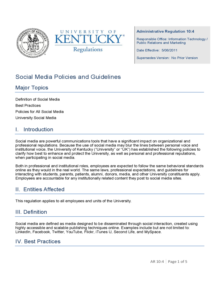 policy and social media The nlrb and social media began receiving charges in its regional offices related to employer social media policies and to specific instances of discipline for.