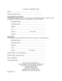 Social Security Address Change Form - Maryland Free Download