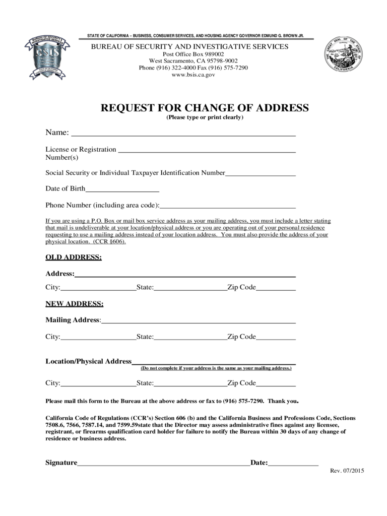 social security change of address form