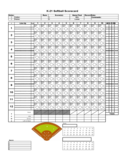 Softball Score Sheet Example Free Download