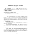 Sample Software License Agreement Free Download