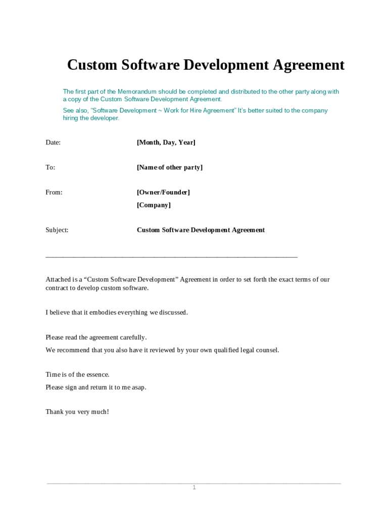 Software Development Contract Template - 2 Free Templates in PDF ...