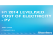 Cost of Electricity - PV
