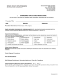 Standard Operating Procedure - Iowa State University Free Download