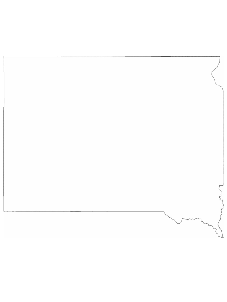 South Dakota State Outline Map