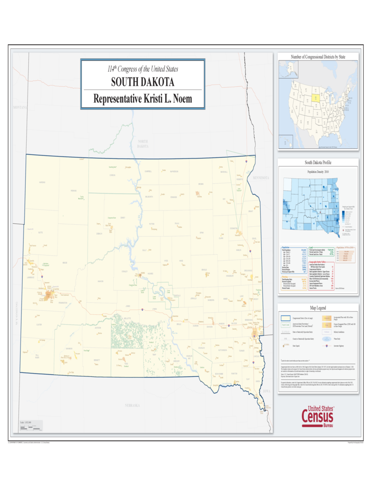 South Dakota Congressional District Map Free Download