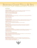 Spa Menu Sample Free Download
