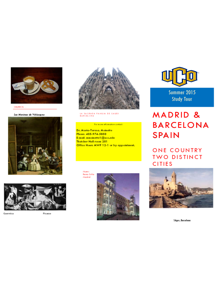 spain travel brochure template