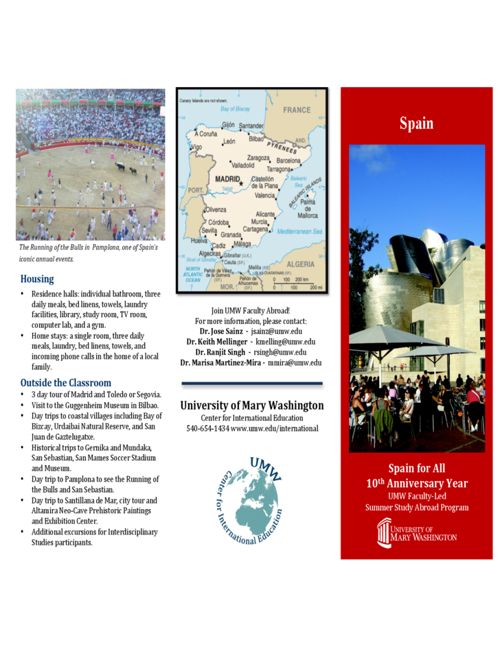 Sample Spain Brochure