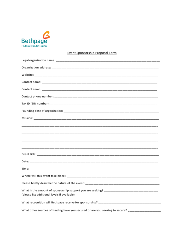 sponsorship form template professional word templates word 2007 sponsorship proposal