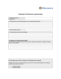 Sponsorship Proposal Letter Free Download