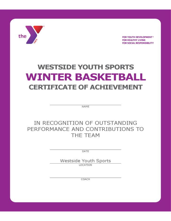 winter basketball player certificate free download