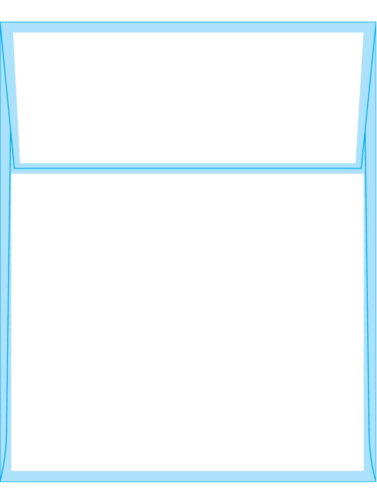 Square Flap Envelopes 7 1/4 x 5 1/4 - Back