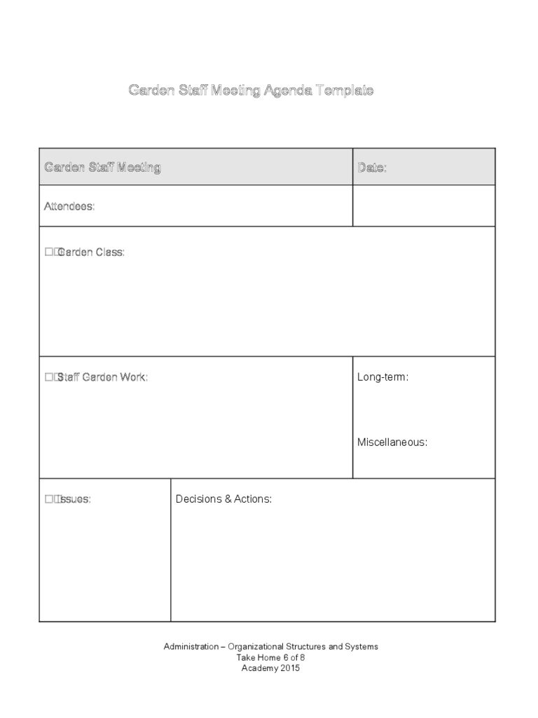 staff meeting template