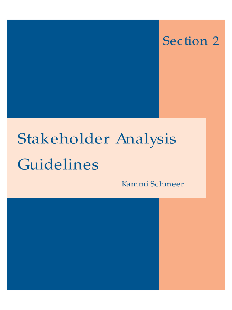 Stakeholder Analysis Guidelines
