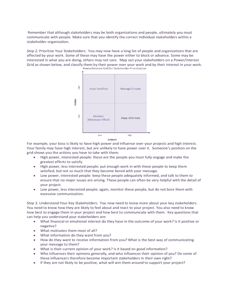 Stakeholder Analysis Sample Template